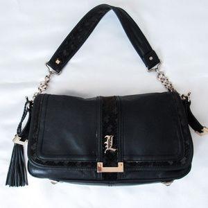 L.A.M.B Gwen Stefani Black Leather Purse